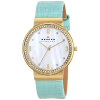 スカーゲン 腕時計 レディース 時計 Skagen Women's SKW2162 Ancher Quartz 3 Hand Stainless Steel Green Watch