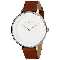 スカーゲン 腕時計 レディース 時計 Skagen Women's SKW2214 Ditte Quartz 2 Hand Stainless Steel Dark Brown Watch