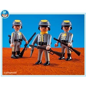 プレイモービル 7046 南軍の兵隊 Playmobil Rebel Soldiers, Set Of 3 with Accessories