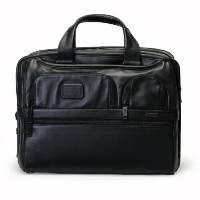 TUMI トゥミ バッグ 096141 Alpha Leather Business Expandable Organizer Computer Brief