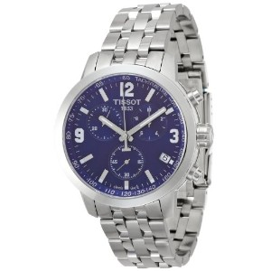 ティソ 腕時計 メンズ 時計 Tissot PRC 200 Chronograph Blue Dial Stainless Steel Mens Watch T0554171104700