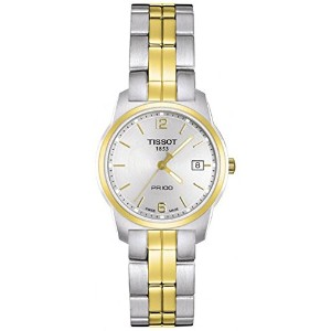 ティソ 腕時計 レディース 時計 Tissot Women's T0492102203700 PR 100 Two-Tone Silver Dial Watch