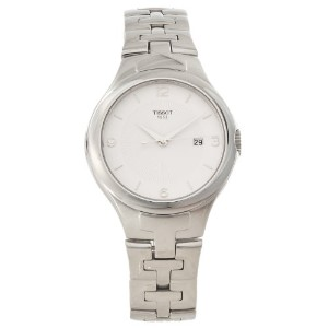 ティソ 腕時計 レディース 時計 Tissot Womens T-12 Silver-tone Analog Quartz Watch T0822101103700