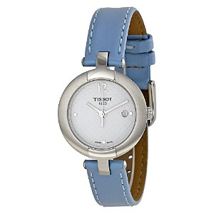 ティソ 腕時計 レディース 時計 Tissot Pinky White Dial Blue Leather Ladies Watch T0842101601702