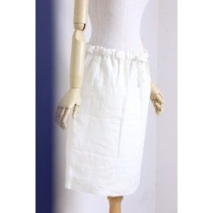 【SUMMER SALE】O'NEIL of DUBLIN(オニールオブダブリン) リネン100% Drawstring Skirt PLAIN #848 3color【Lady's】