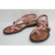 "GOSH ゴッシュ LEATHER SANDAL ""Tzayana"" (PINK) 8inch"