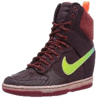 (ナイキ) Womens Nike Dunk Sky Hi Sneakerboot 2.0 Deep Burgundy Shimmer Hyper Crimson Womens US 7 [並行輸入品]