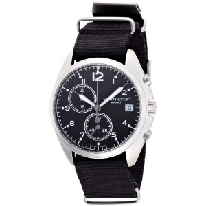 ハミルトン メンズ 腕時計 Hamilton Men's HML-H76552433 Stainless Steel Analog Display Quartz Black Watch