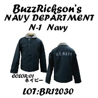 "BUZZ RICKSON'S バズリクソンズN-1 NAVY""NAVY DEPARTMENT""BR12030-14「NC」"