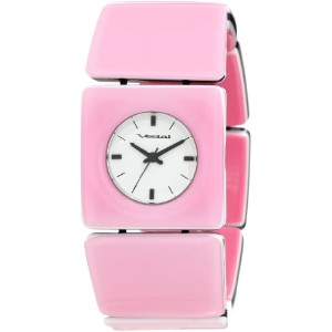 "ベスタル 時計 レディース 腕時計 Vestal Women's RWS3A01 ""Rosewood"" Pink Acetate Bangle Watch"