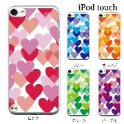 iPod touch 5 6 ケース iPodtouch ケース アイポッドタッチ6 第6世代 ハートがたくさん♪ハートフル / for iPod touch 5 6 対...