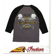 INDIANA MOTORCYCLE JERRY ENGINEERING BASEBALL T (LS:TEE)(IM63826-CH)