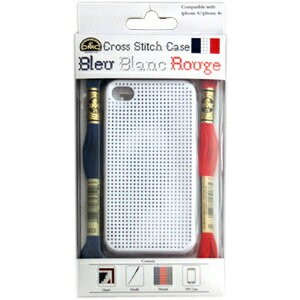 ★DMCステッチケース Bleu Blanc Rouge for iPhone4/4s ビッグホール(白)/iP011-2L-BLANC
