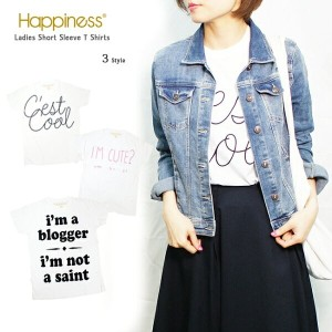 【Happiness10(ハピネス10)】WOMEN'S SS TEEhappiness is a $10 tee大人ロゴT入荷♪白/ホワイト/半袖/シンプルロゴTシャツ1088/997...