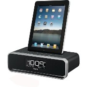 iHome iDL91 Dual Charging Stereo FM Clock Radio with Lightning Dock and USB Charge/Play for iPhone