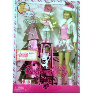 Barbie バービー and Kelly Pink Holiday Barbie バービー Dolls Set 人形 ドール