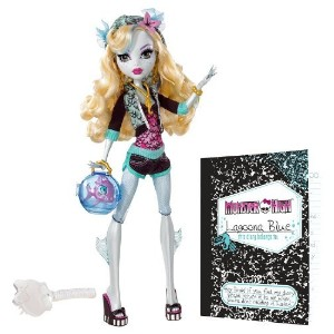 モンスターハイ Monster High Lagoona Blue Doll and Neptuna Pet Piranha