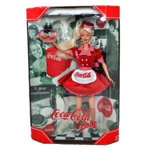 Mattel マテル社 Year 1998 Barbie バービー Collector Edition: Coca-Cola Barbie バービー as a Waitre