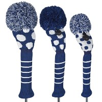 Just 4 Golf Ladies Navy and White Dot Headcovers【ゴルフ レディース>ヘッドカバー】