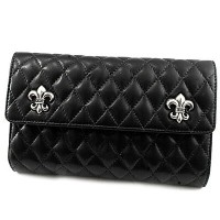 【Chrome Hearts】クロムハーツ 財布 ウォレットウェーブ#4 キルテッド 3スナップ BSフレア モチーフWAVE#4 QUILTED 3SNAP BS FLARE本物 正規品...