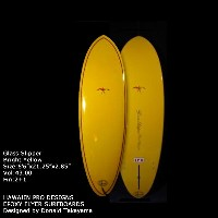 "サーフボード ドナルド・タカヤマ HAWAIIAN PRO DESIGNS Glass Slipper 6'6"" Bright yellow (AHE0159)ショートボード Designed by..."
