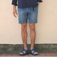 Gramicci(グラミチ)/ DENIM NN-SHORTS -MEDIUM USED-