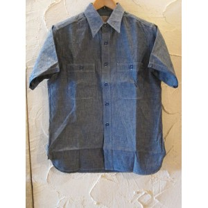 BUZZ RICKSON'S バズリクソンズ/CHAMBRAY S/S WORK SHIRTS BLUE