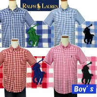 POLO by Ralph Lauren Boy'sラルフローレンギンガムチェック半袖シャツ【2015-Spring/NewColor】【ラルフローレン ボーイズ】