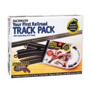 Bachmann HO Scale Train E-Z Track System Steel/Black First Railroad Track Pack - 44497