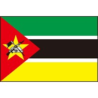 105cm 小サイズ・ポリエステル・国旗 モザンビーク共和国(Republic of Mozambique )・National flag【応援グッズ】