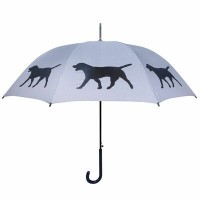 The San Francisco Umbrella Company 長傘 ジャンプ傘 SFアンブレラ Labrador Retriever Umbrella Black on Silver AA...