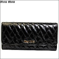 MIUMIU/ミュウミュウ ラウンド 長財布 VITELLO SHINE T NERO 5m1109-vishit-nero【Luxury Brand Selection】【smtb-kd...