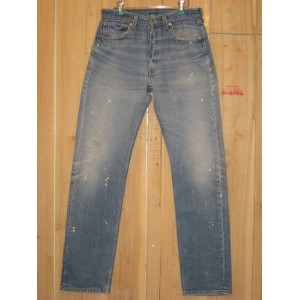 USA古着/LEVIS/リーバイス501 MADE IN USA ペイント カスタム 90S/W31×L35/ダメージ ジーンズ/