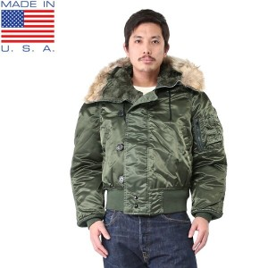 10%OFFクーポン対象商品!CORINTH MFG CO/コリンズ MADE IN USA N-2B フライトジャケット SAGE GREEN《WIP》 ミリタリー 秋 冬 春 男性 ギフト...