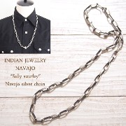 "【INDIAN JEWELRY】NAVAJO""Sally Shurley""極太 ナバホチェーン"