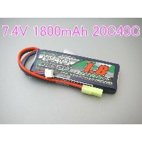 S電動ガンTurnigy nano-tech 7.4V 1800mAh 20C40Cリポ です。