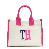 トミーヒルフィガー TOMMY HILFIGER トートバッグ 6929741 MEDIUM TOTE TH HILFIGER GRAPHIC NATURAL/NAVY/PETUNIA PK【楽ギフ...