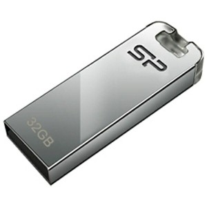 SILICON POWER USB2.0メモリ Touch T03 (32GB・シルバー) SP032GBUF2T03V1F
