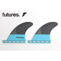 "Future Fin,フューチャーフィン/4FIN・QUAD用リアフィン/BLACK STIX 3.0シリーズ/QD-2 3.75"" QUAD REAR/ (1/2Base)/CARBON/BLUE..."