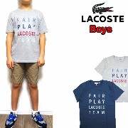 LACOSTE ラコステ Tシャツ キッズ TJ7913 BOYS FAIR PLAY GRAPHIC TEE ジュニア 子供 ボーイズ 05P01Oct16