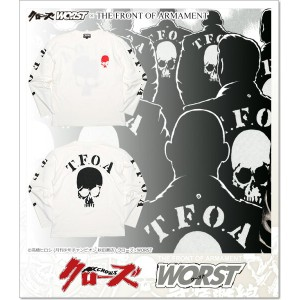CROWS×WORST 5th 武装戦線 T.F.O.A ロンT (LS:TEE)(CR-011WH)