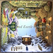 クロスステッチ刺繍図案 Heaven And Earth Designs(HAED) - Jacek Yerka - Four Seasons