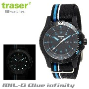 【Traser Watches】トレーサー trigalight 軍事用時計 「MIL-G Blue infinity」【10P03Dec16】
