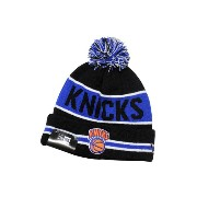 NEW ERA POM KNIT CAP (NBA/New York Knicks/767: Black×Blue)ニューエラ/ニットキャップ/黒×青