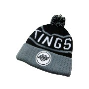 MITCHELL&NESS High 5 Cuffed Pom Knit Cap (NHL/Los Angeles Kings: Black×Grey)ミッチェル&ネス/ニットキャップ/黒×グレー