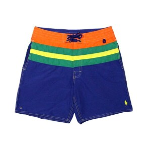 "POLO RALPH LAUREN 7"" Striped Palm Island Trunk (710539877003: Royal Multi)ポロラルフローレン/スイムショーツ/水着"