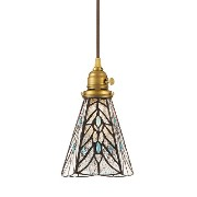 STAINED GLASS PENDANT LIGHT TEARS (ステンド グラス ペンダント ライト ティアーズ 白熱灯電球タイプ) AW-0374V