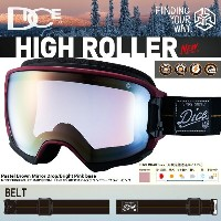 DICE ダイス ゴーグル 15-16 NEW MODEL! HIGH ROLLER カラー WINE Pastel Brown Mirror Drop/Bright Pink base...
