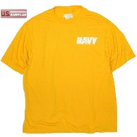 US SOFFE NAVY PT Tシャツ ポリエステル100 Yellow Made in USA