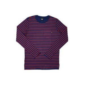 ONLY NY L/S Pocket Tee (Ludlow: Navy)オンリーニューヨーク/ロングTシャツ/紺×赤